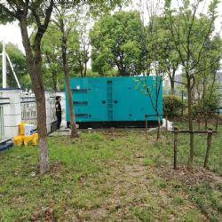 乌鲁木齐银行采购的一台室外静音柴油发电机组货到现场测试噪音